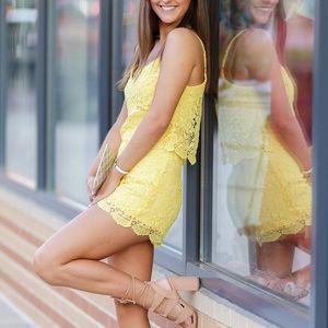 Bebe Summer Yellow Romper